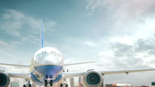 airplane take off st.louis missouri - st louis filmów i materiałów b-roll