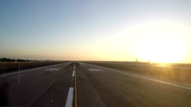 airplane take off (pov shot) time lapse take off in Tel Aviv on runway 21 filmed with GoPro 5 airport runway stock videos & royalty-free footage