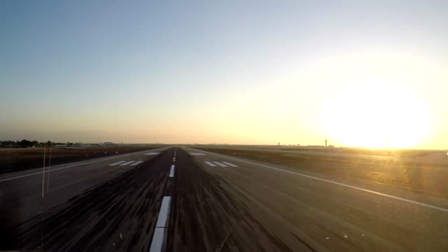 airplane take off (pov shot)