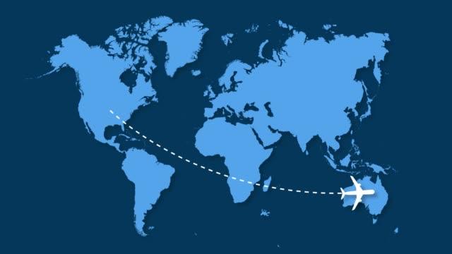 USA Airplane to Australia Australia, USA, 2020, 4K Resolution, Air Plane blue monkey stock videos & royalty-free footage
