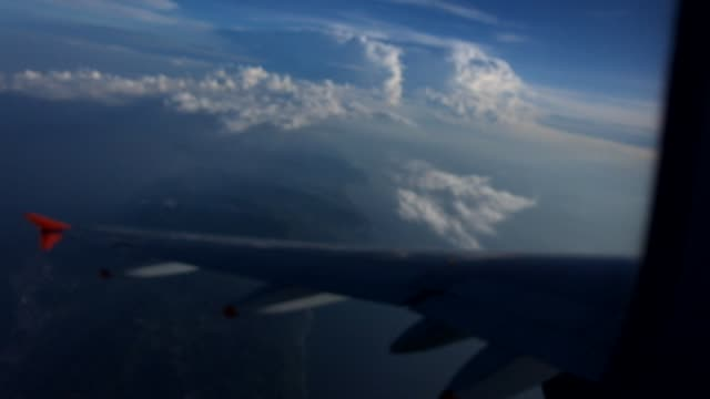 Airplane view from the window video