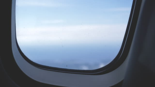 Airplane Window Close Up video