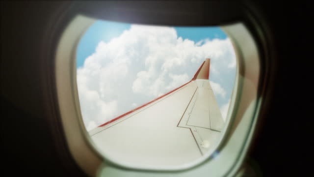 Opinião da janela do avião - vídeo
