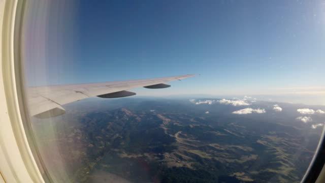 Airplane window view video