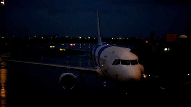 Airport at night video