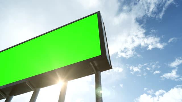 airport billboard - 4k resolution - insegna commerciale video stock e b–roll