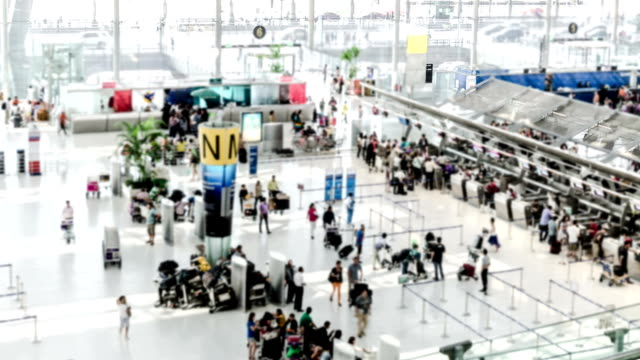 Airport Check-in Area Time-lapse video