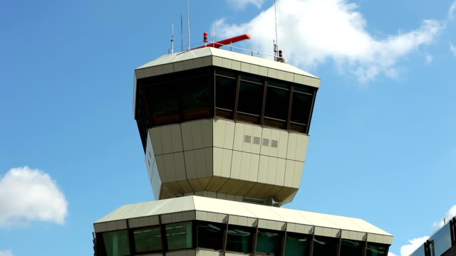 Airport - Close up of a radar tower video