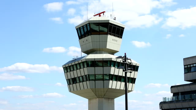 Airport control tower video