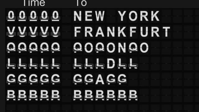 аэропорт departures board - табло вылетов и прилётов стоковые видео и кадры b-roll