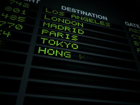 空港へのフライト情報掲示板 - 南米旅行点の映像素材/bロール