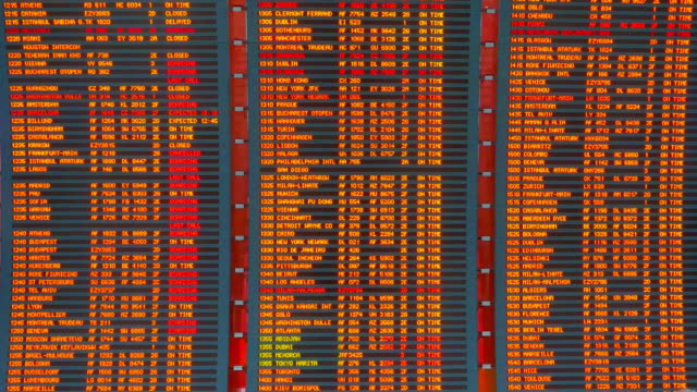 Airport Flight Times Arrivals and Departures Board, Time Schedule Information video