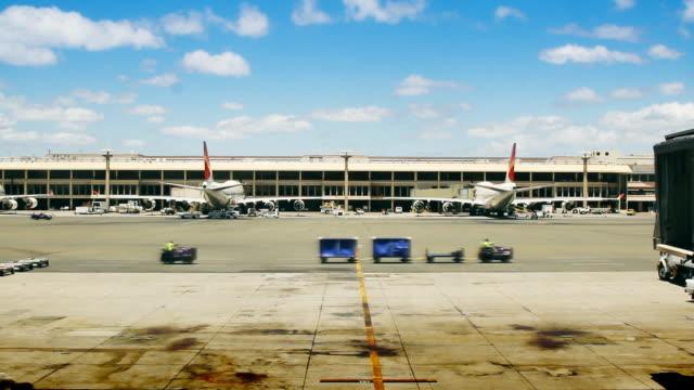 Airport Gates, Planes & Tarmac video