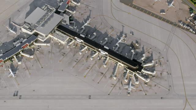 aerial airport in philadelphia, pennsylvania - airports stock videos & royalty-free footage