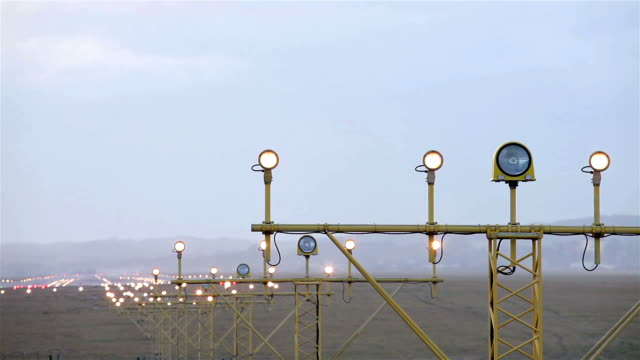 Airport lights video