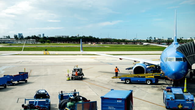 Airport Terminal Time Lapse Runway video
