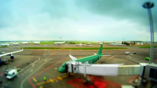 Airport time-lapse video