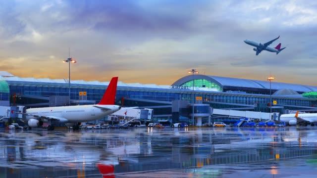 Airport Airport in İzmir, Turkey ( Adnan Menderes Airport ) airfield stock videos & royalty-free footage