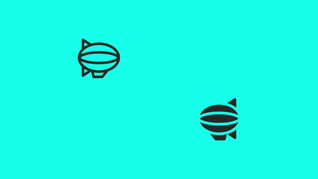 Airship Icons - Vector Animate video