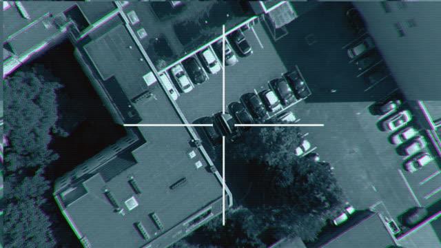 vidéos et rushes de frappes aériennes ciblées missile point de vue - armement