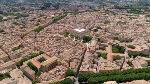 vidéos et rushes de aix-en-provence aerial back traveling. bouches-du-rhône, france - aix en provence