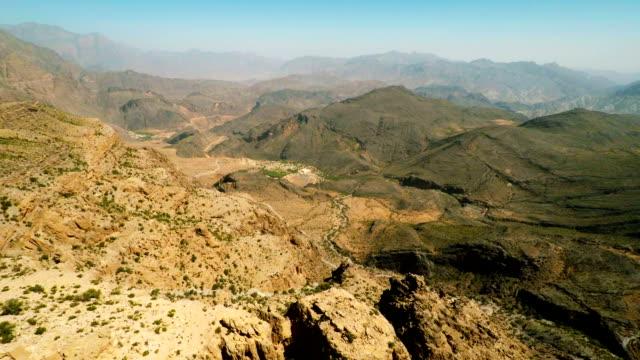 al hajar mountains of oman - oman video stock e b–roll