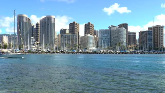 Ala Wai Yacht Harbor - Waikiki, Hawaii video