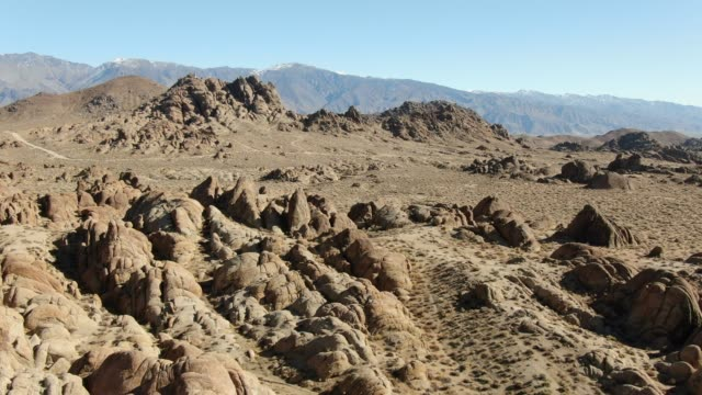 Alabama Hills Rock Formations Aerial View