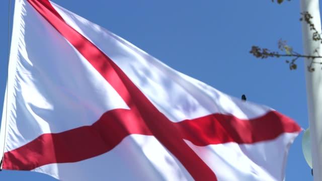 alabama eyalet bayrak esintiyle sallayarak - alabama stok videoları ve detay görüntü çekimi