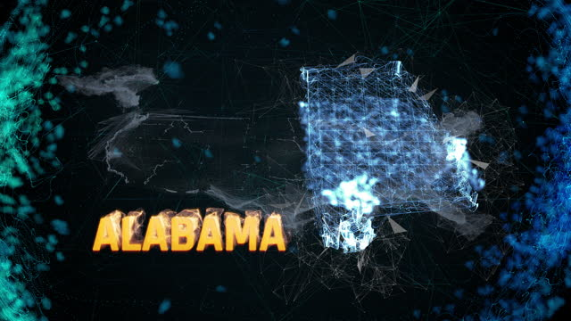 Alabama US federal state border map outline, news events, exit polls, sightings Alabama US federal state border map outline, news events, exit polls, sightings civil rights stock videos & royalty-free footage