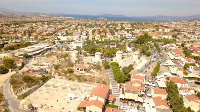 Alacati from air Alacati from air aegean turkey stock videos & royalty-free footage