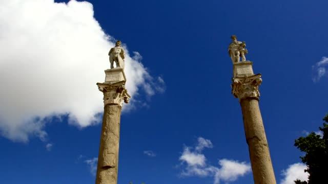 Alameda de Hercules, Seville. Time Lapse video