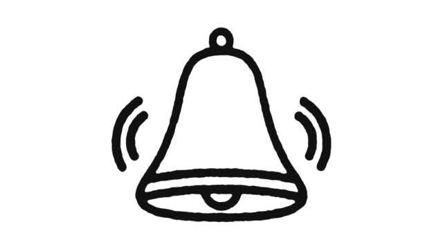 Alarm Bell Icon Animation Footage & Alpha Channel