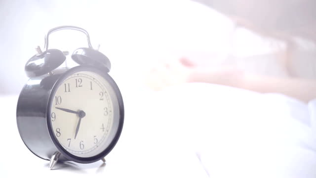 Alarm clock ringing at morning video