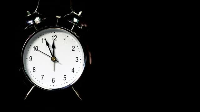 Alarm clock with textspace video