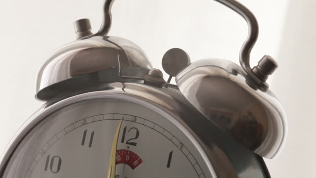 Alarm clock work Alarm clock ringing at early morning time daylight savings stock videos & royalty-free footage
