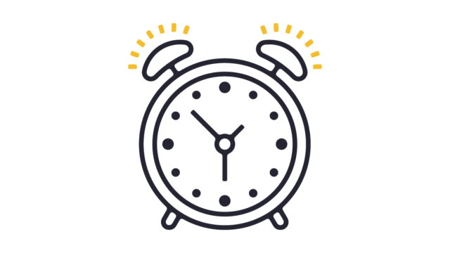 Alarm Line Icon Animation