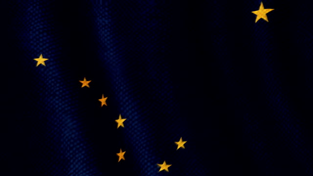 alaska flag waving animation - alaska stato usa video stock e b–roll