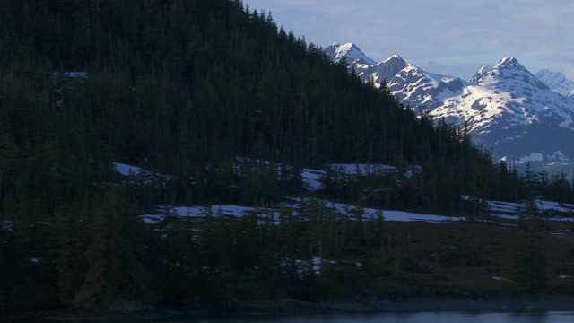 Alaska mountains and lake