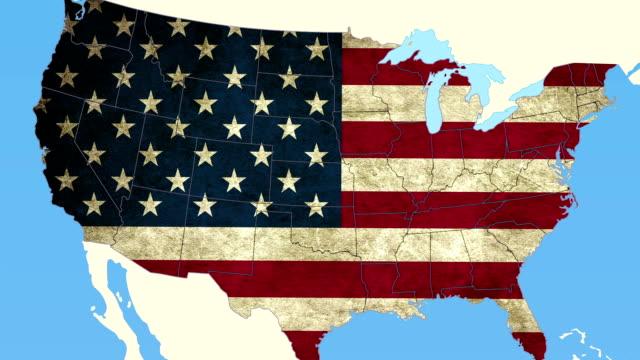 alaska estrarre, liscio stati uniti d'america mappa, tutti i paesi disponibili - alaska stato usa video stock e b–roll