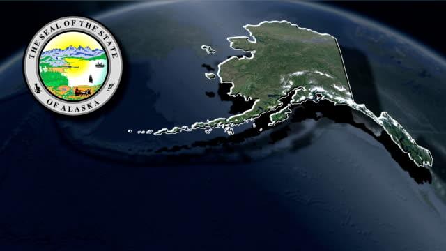 Alaska Seal and animation map video