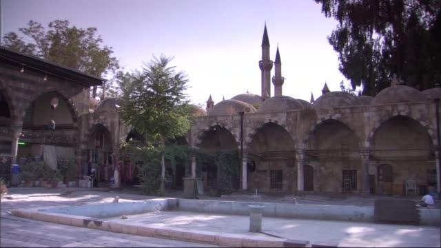 vídeos de stock e filmes b-roll de al-azem palace in damascus,syria - ivy building