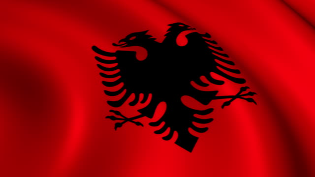 Albania Flag Loopable video