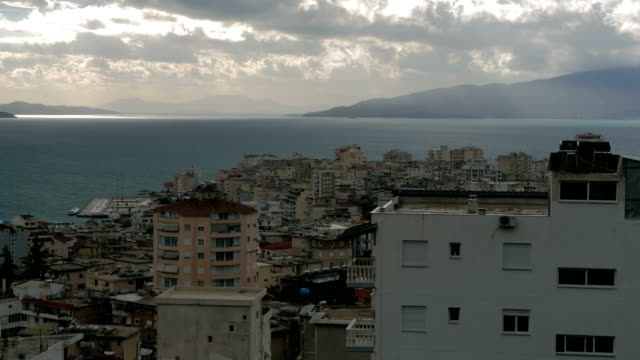 Albania, Saranda. City on the Ionian Coast. Time lapse Albania, Saranda. City on the Ionian Coast. Time lapse. December 2017 us coin stock videos & royalty-free footage