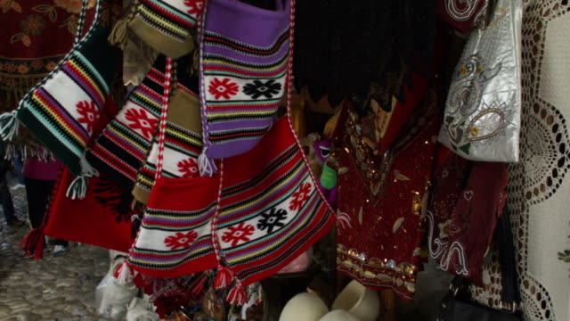 Albanian Traditional Handicrafts In Kruja Stock Video More Clips
