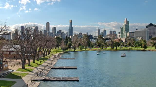 Albert Park Lake, Melbourne, Victoria video