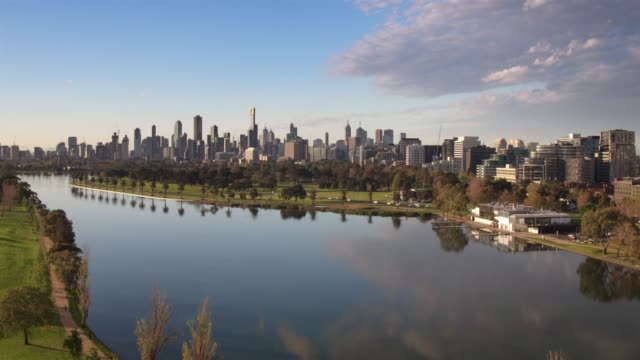 albert park, melbourne city, victoria, australia - melbourne stock videos & royalty-free footage