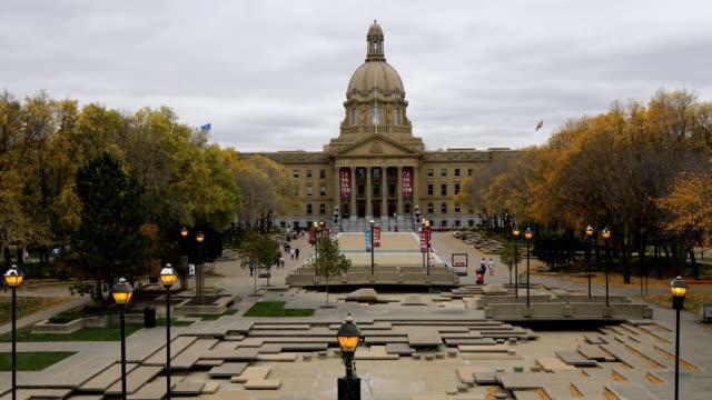 Alberta, Canada legislature in autumn video