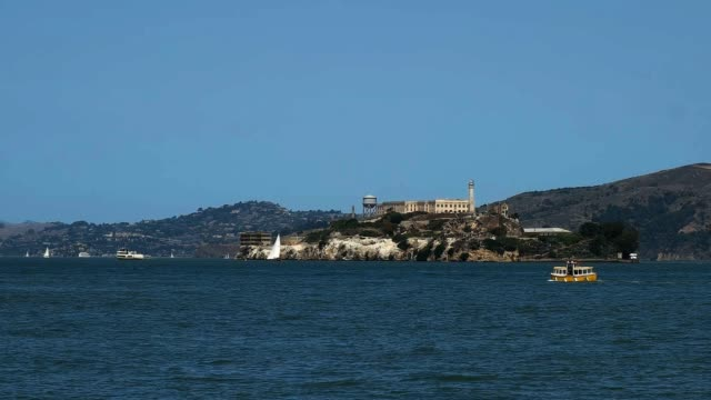 alcatraz and small ferry