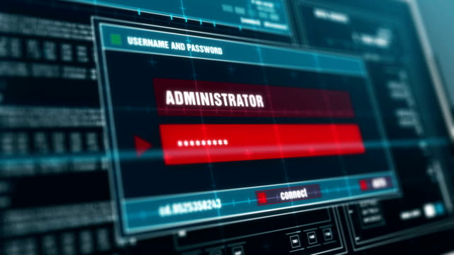 画面に警告メッセージ、コンピューター画面入力システム ログインとパスワードにログインの進行状況を示すシステム セキュリティ警告メッセージを許可しました。 - ウイルス対策ソフト点の映像素材/bロール
